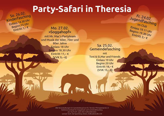 Fasching Party-Safari